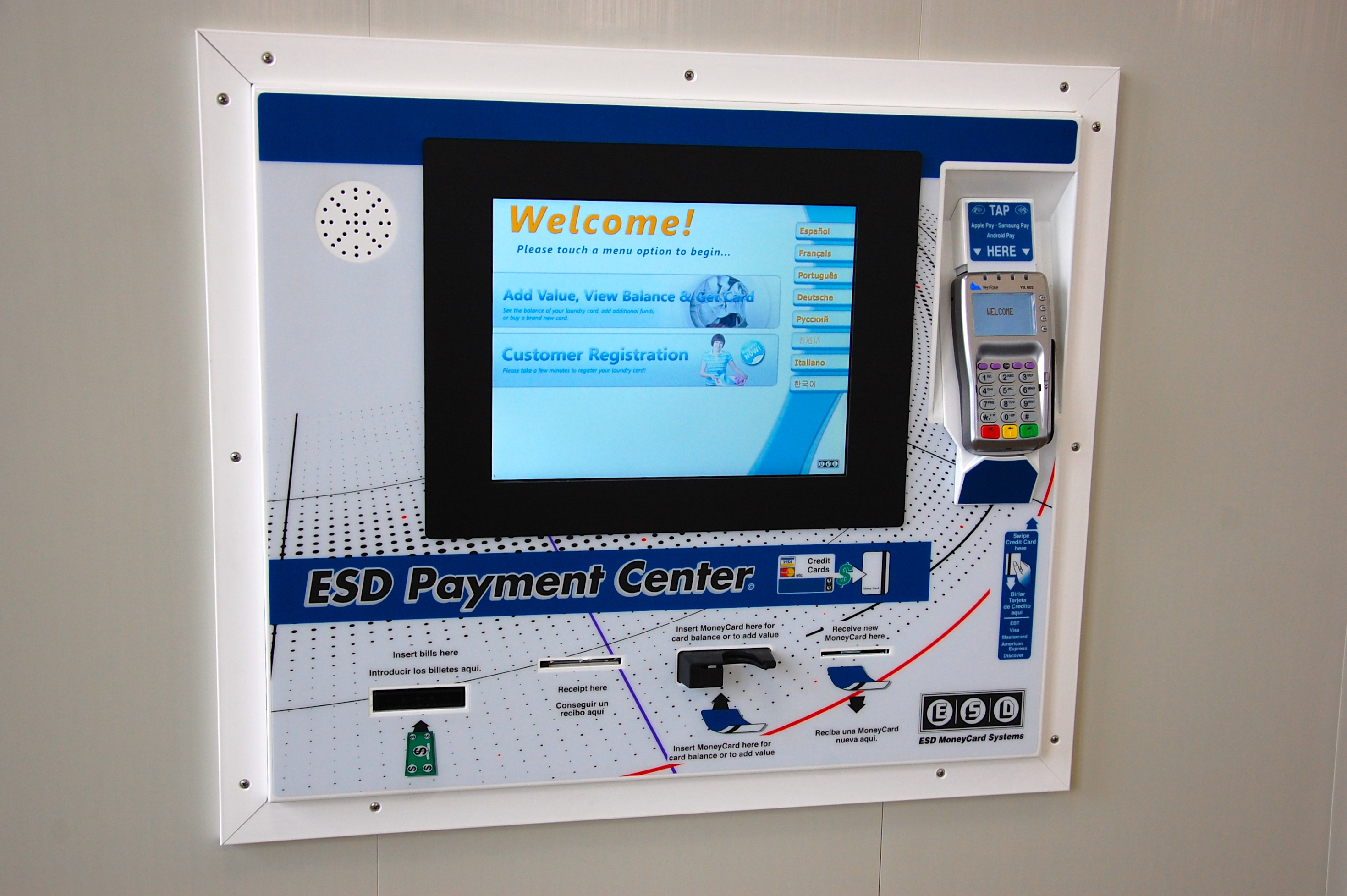 Laundromat uses the ESD Synergy Laundry Card system. Thumbnail