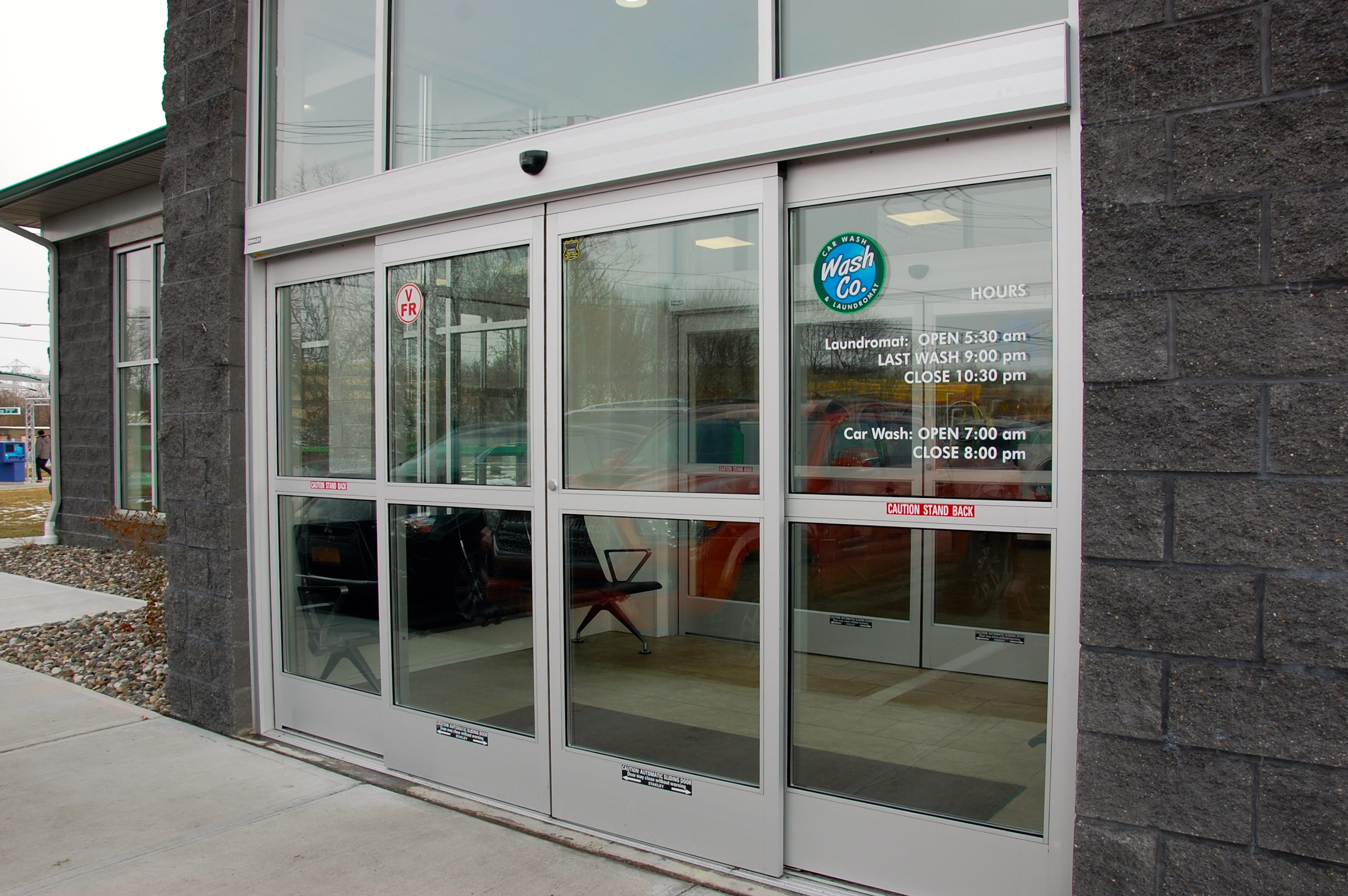 Full sized Double Automatic Sliding Doors create a great air lock. Thumbnail