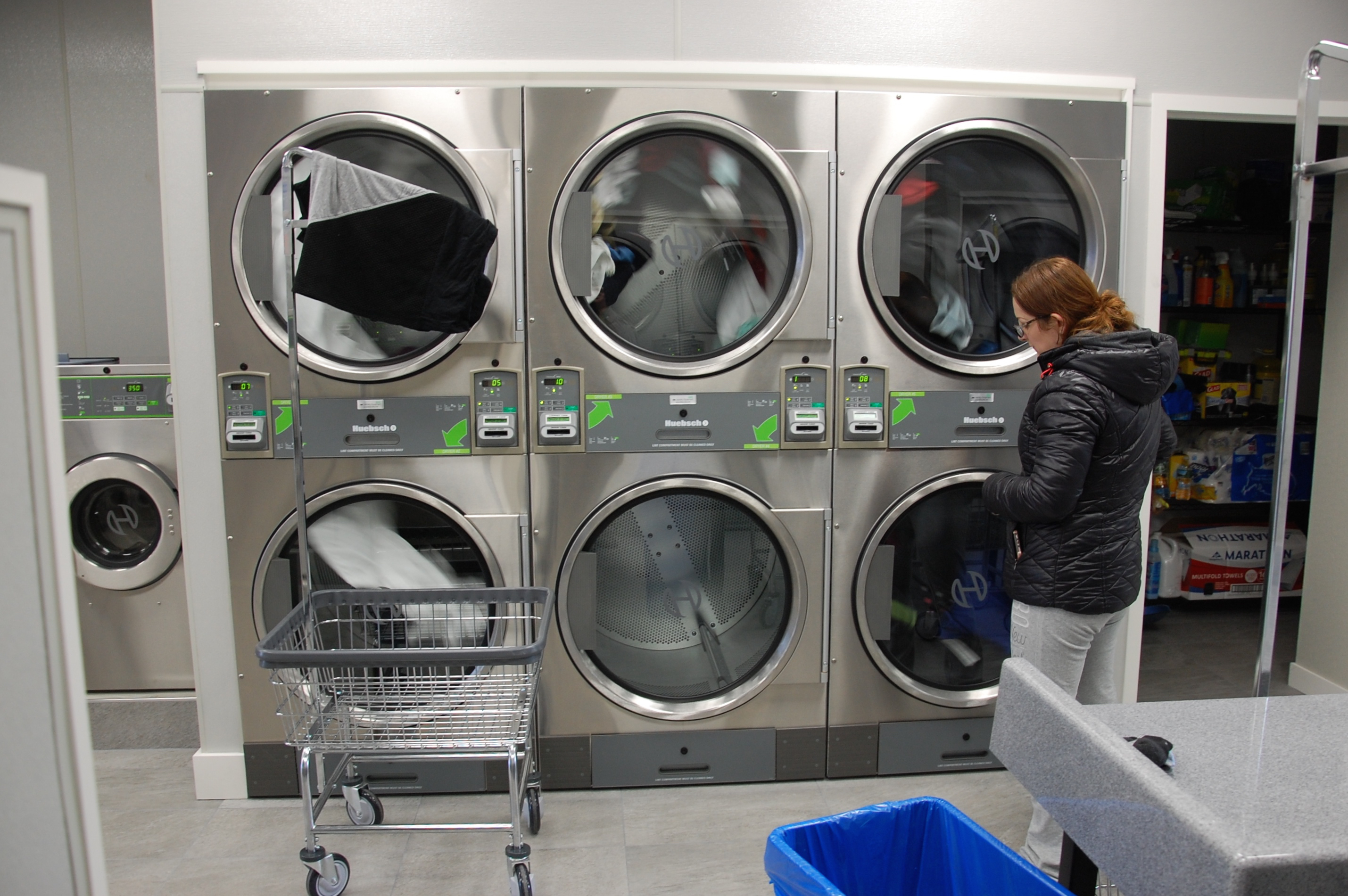 A mix of Huebsch 30 lbs. & 50 lbs. Stack Dryers. Thumbnail