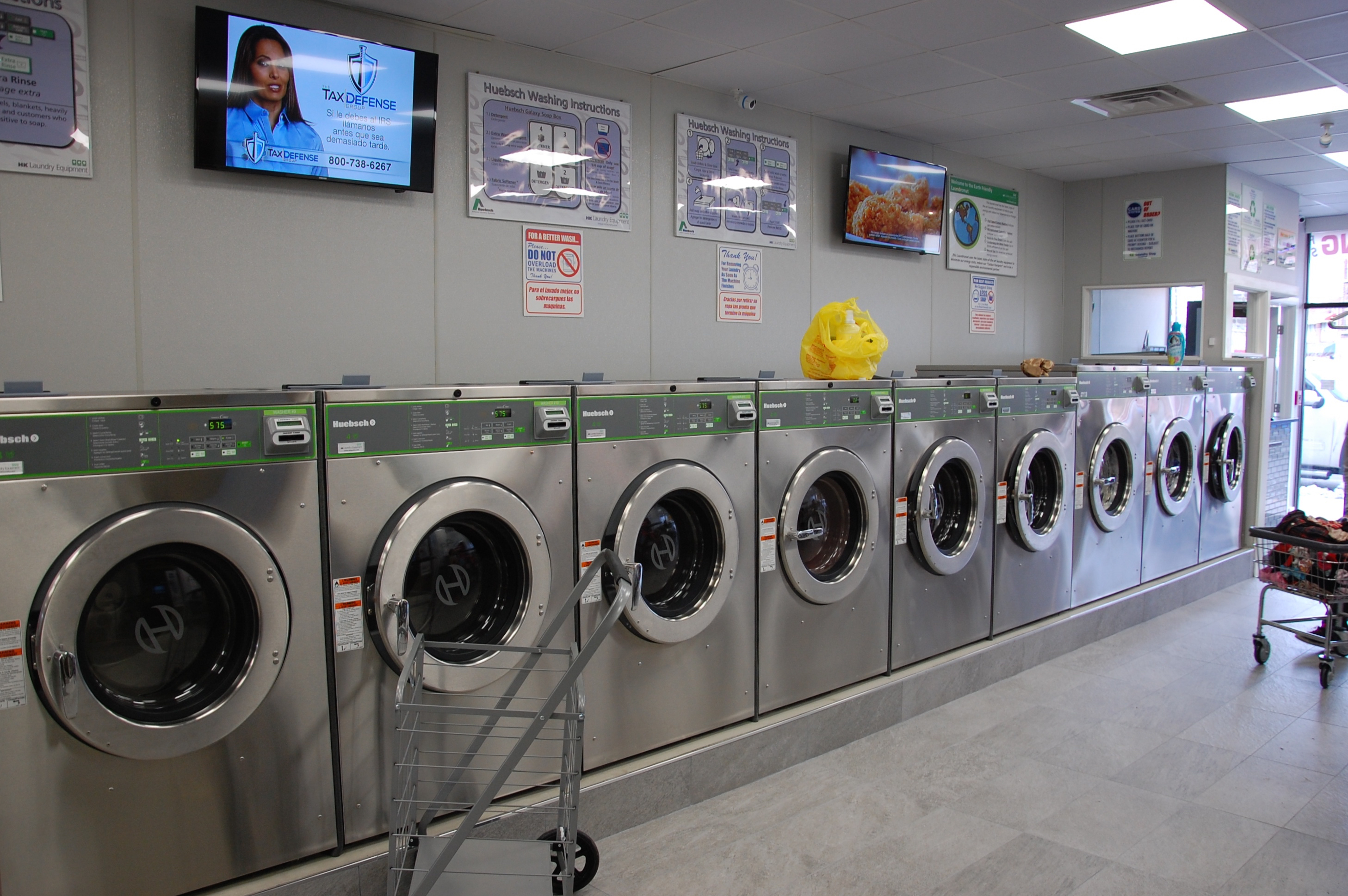 The store features Huebsch Galaxy 600 Washers & Dryers. Thumbnail
