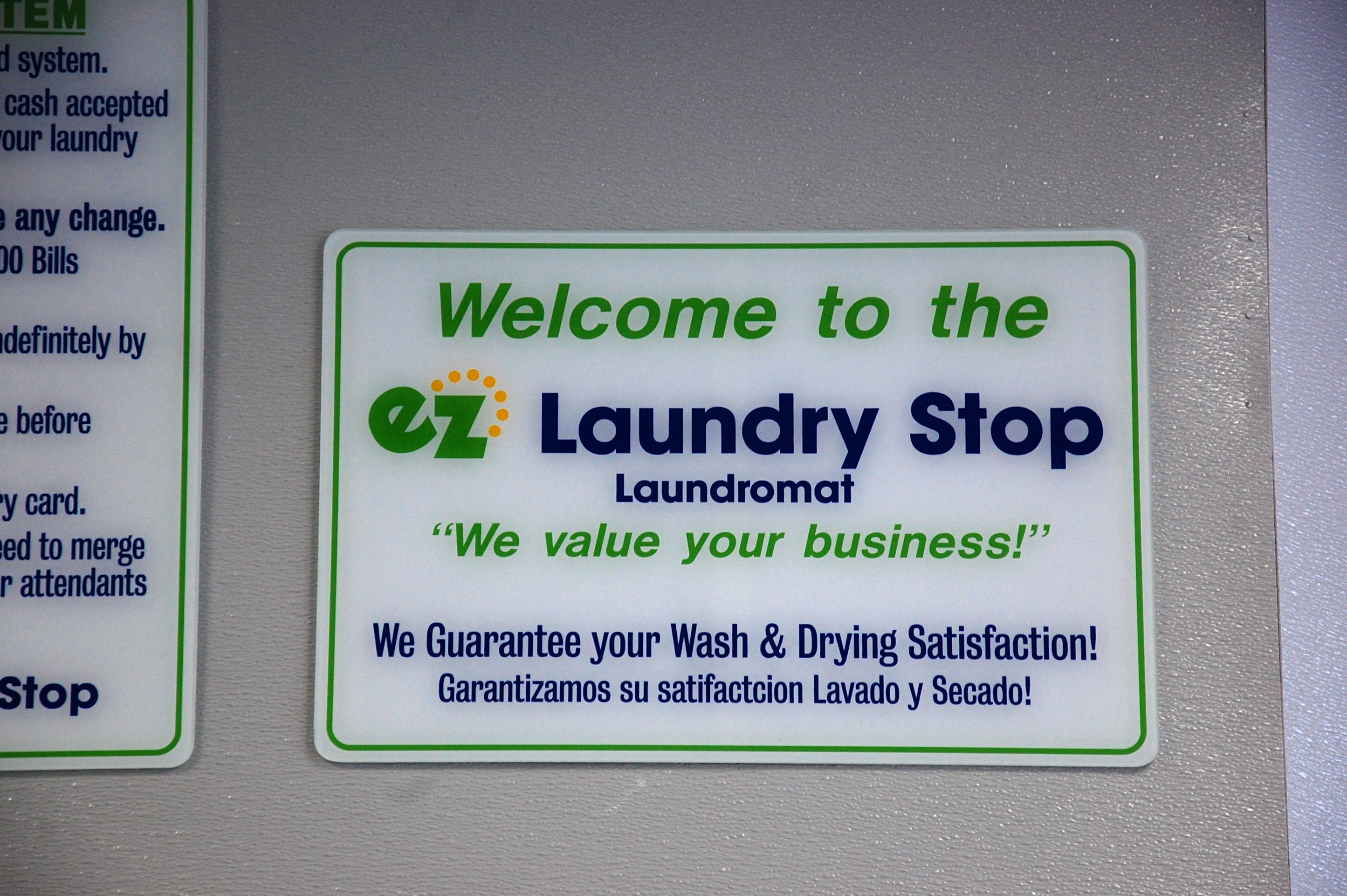 A basic promise that every Laundromat should make - 100% satisfaction. Thumbnail