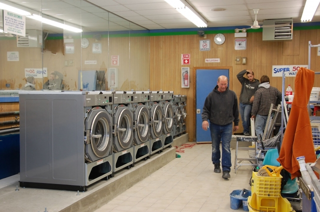 New Huebsch washers being installed. Thumbnail