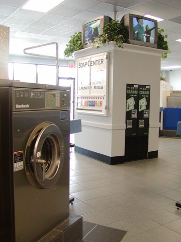 Change, Soap & TV's in the center of the Laundromat Thumbnail